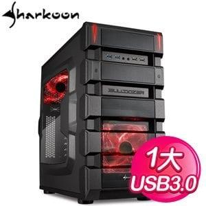 Sharkoon 旋剛 摧毀者 紅1大電腦機殼