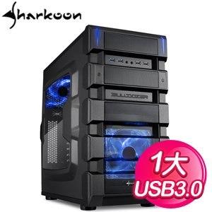 Sharkoon 旋剛 摧毀者 藍1大電腦機殼
