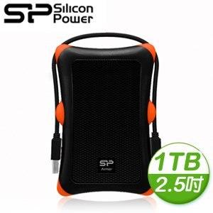 Silicon Power 廣穎 Armor A30 1TB 2.5吋 USB3.0 行動硬碟《沉穩黑》