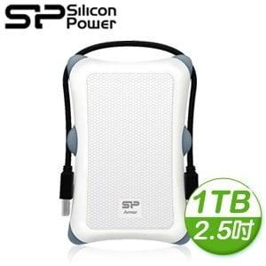 Silicon Power 廣穎 Armor A30 1TB 2.5吋 USB3.0 行動硬碟《無暇白》