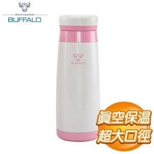 牛頭牌 0.4L 真空保溫隨手杯《粉紅白色》