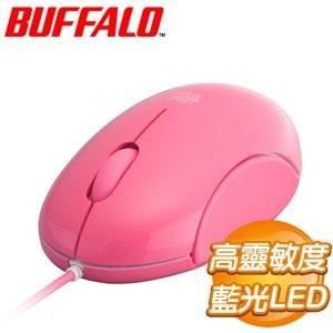 Buffalo 巴比祿 青春逗 藍光LED有線滑鼠《粉紅色》