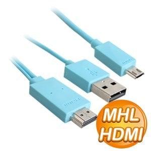 MHL to HDMI 轉接線(藍)