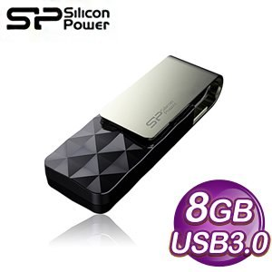 Silicon Power 廣穎 Blaze B30 8G USB 3.0 菱格紋隨身碟《尊爵黑》