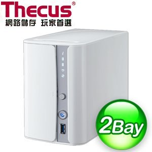Thecus 色卡司 N2560 2Bay NAS 網路儲存伺服器