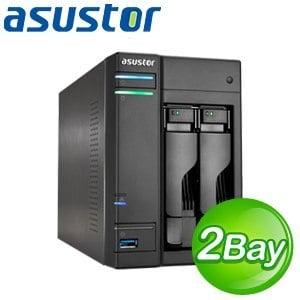ASUSTOR 華芸 AS-202T 2Bay NAS 網路儲存伺服器