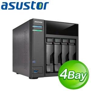 ASUSTOR 華芸 AS-204T 4Bay + 4TB(1TB*4) 網路儲存伺服器