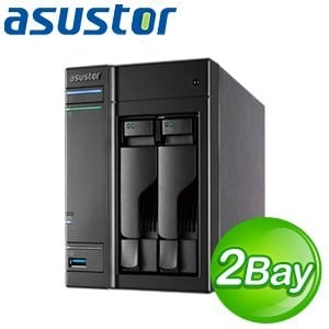 ASUSTOR 華芸 AS-302T 2Bay NAS 網路儲存伺服器