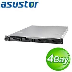 ASUSTOR 華芸<BR> AS-604RS 4Bay NAS<BR> 機架式網路儲存伺服器