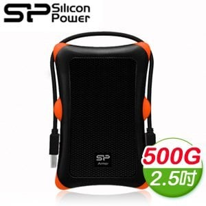 Silicon Power 廣穎 Armor A30 500G 2.5吋 USB3.0 行動硬碟《沉穩黑》