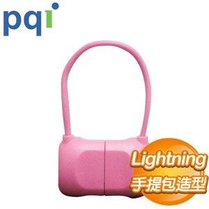 PQI i-Cable Bag 10cm 傳輸線《粉色》