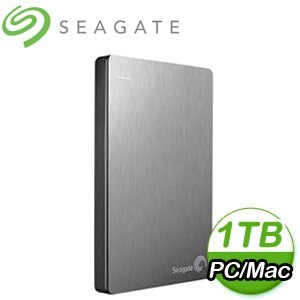 Seagate 希捷 Backup Plus Slim 1TB 2.5吋 USB3.0 外接式硬碟《銀》