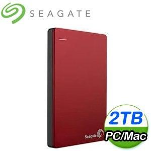 Seagate 希捷 Backup Plus Slim 2TB 2.5吋 USB3.0 外接式硬碟《紅》