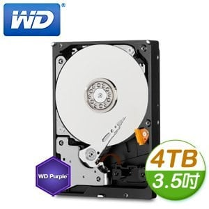 WD 威騰 Purple 4TB 3.5吋 5400轉 64M快取 SATA3紫標硬碟(WD40PURX)