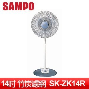 SAMPO 聲寶 14吋微電腦竹炭濾網遙控立式電扇 SK-ZK14R