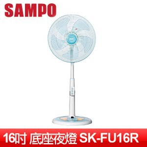 SAMPO 聲寶 16吋微電腦遙控定時夜燈立式電扇 SK-FU16R