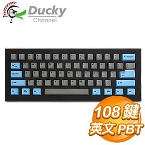 Ducky 創傑 108鍵 英文 PBT藍灰鍵帽組