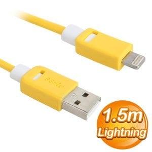EQ Lightning 1.5m 雙色模 傳輸充電線《黃》