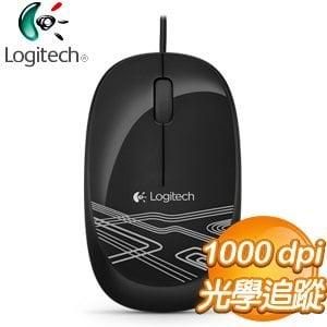 Logitech 羅技 M105 彩色酷炫光學滑鼠《黑》