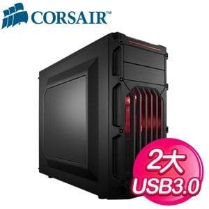 Corsair 海盜船 【SPEC-03】 USB3.0 黑2大 電腦機殼《紅光》