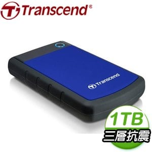 Transcend 創見 Storejet 25H3B 1TB USB3.1 2.5吋 軍規級抗震外接硬碟《藍》TS1TSJ25H3B