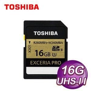 Toshiba 東芝 EXCERIA PRO SDHC UHS-II Class10 16G 高速記憶卡
