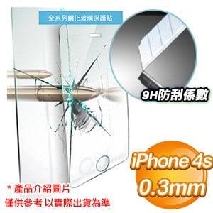 EQ iPhone 4s 0.3mm防爆鋼化玻璃保護貼