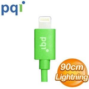 PQI i-Cable Lightning 90cm 圓線《綠色》