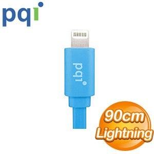 PQI i-Cable Lightning 90cm 扁平線《藍色》