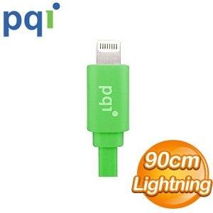 PQI i-Cable Lightning 90cm 扁平線《綠色》