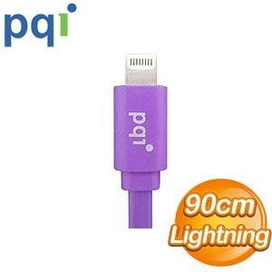 PQI i-Cable Lightning 90cm 扁平線《紫色》