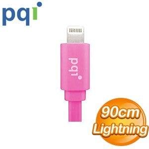 PQI i-Cable Lightning 90cm 扁平線《粉色》