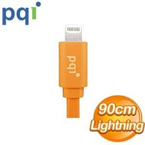 PQI i-Cable Lightning 90cm 扁平線《橘色》