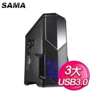 SAMA【影子戰士】ATX電腦機殼《黑》