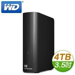 WD 威騰 Elements 4TB 3.5吋 USB3.0 外接式硬碟