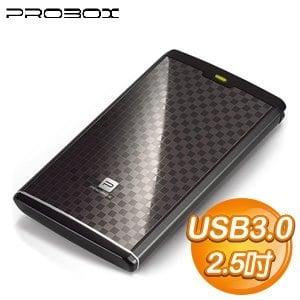 PROBOX 2.5吋 USB3.0 鋁合金外接盒《菱格紋黑》