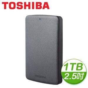 Toshiba 東芝 黑靚潮II 1TB USB3.0 2.5吋行動硬碟
