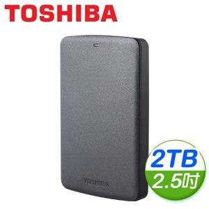 Toshiba 東芝 黑靚潮II 2TB USB3.0 2.5吋行動硬碟