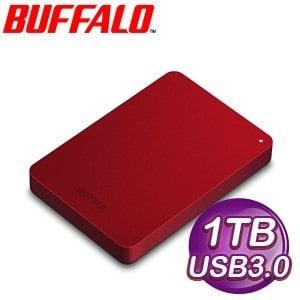Buffalo 巴比祿 PNFU3 1TB USB 3.0 2.5吋外接式硬碟《紅》