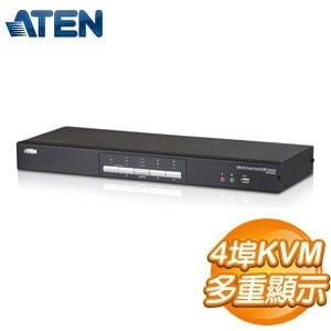 ATEN KVM 1:4DUA鐵 DVI雙螢幕KVMP多電腦切換器 (CS1644)