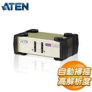 ATEN KVM 1:2U P鐵含 2埠 PS 2 USB KVM 多電腦切換器  CS8