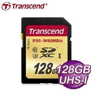 Transcend 創見 128G SDXC Class 10 UHS-I U3 記憶卡 (R95/W60MB/s)