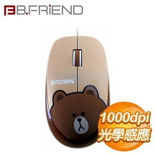 B.FRiEND 熊大 光學 有線滑鼠