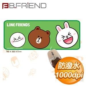 B.FRiEND 熊大 光學 有線滑鼠+LINE鼠墊