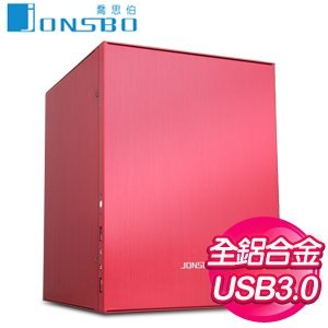 JONSBO 喬思伯 C2R U3 電腦機殼《紅》