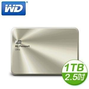 WD 威騰 My Passport Ultra 1TB 2.5吋 USB3.0 金屬版外接式硬碟《金》