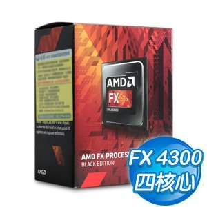 AMD X4 FX 4300 四核心 處理器《3.8Ghz/Socket AM3+》