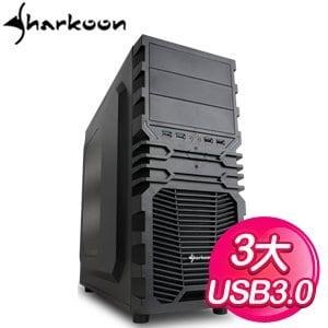 Sharkoon 旋剛【狂風者】ATX電腦機殼《紅》