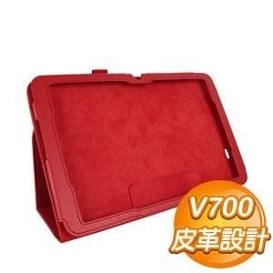 LG G Tablet 10.1 v700 保護皮套《紅》