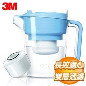 3M 即淨長效濾水壺 WP3000《水藍》(1壺+1濾心)